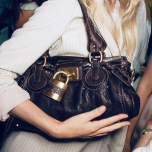 Chloe Paddington medium satchell with padlock